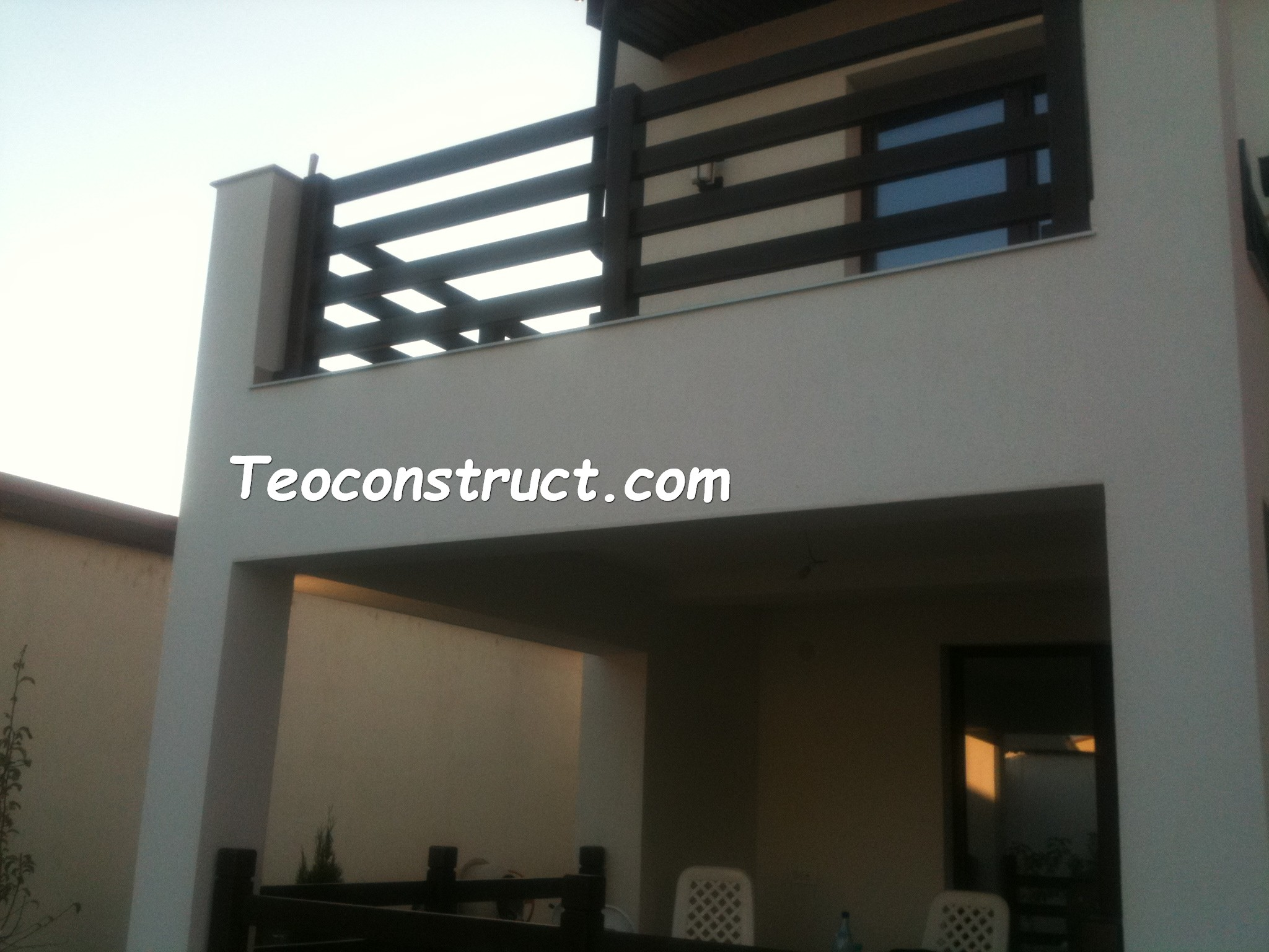 Balustrade din lemn pentru exterior  02