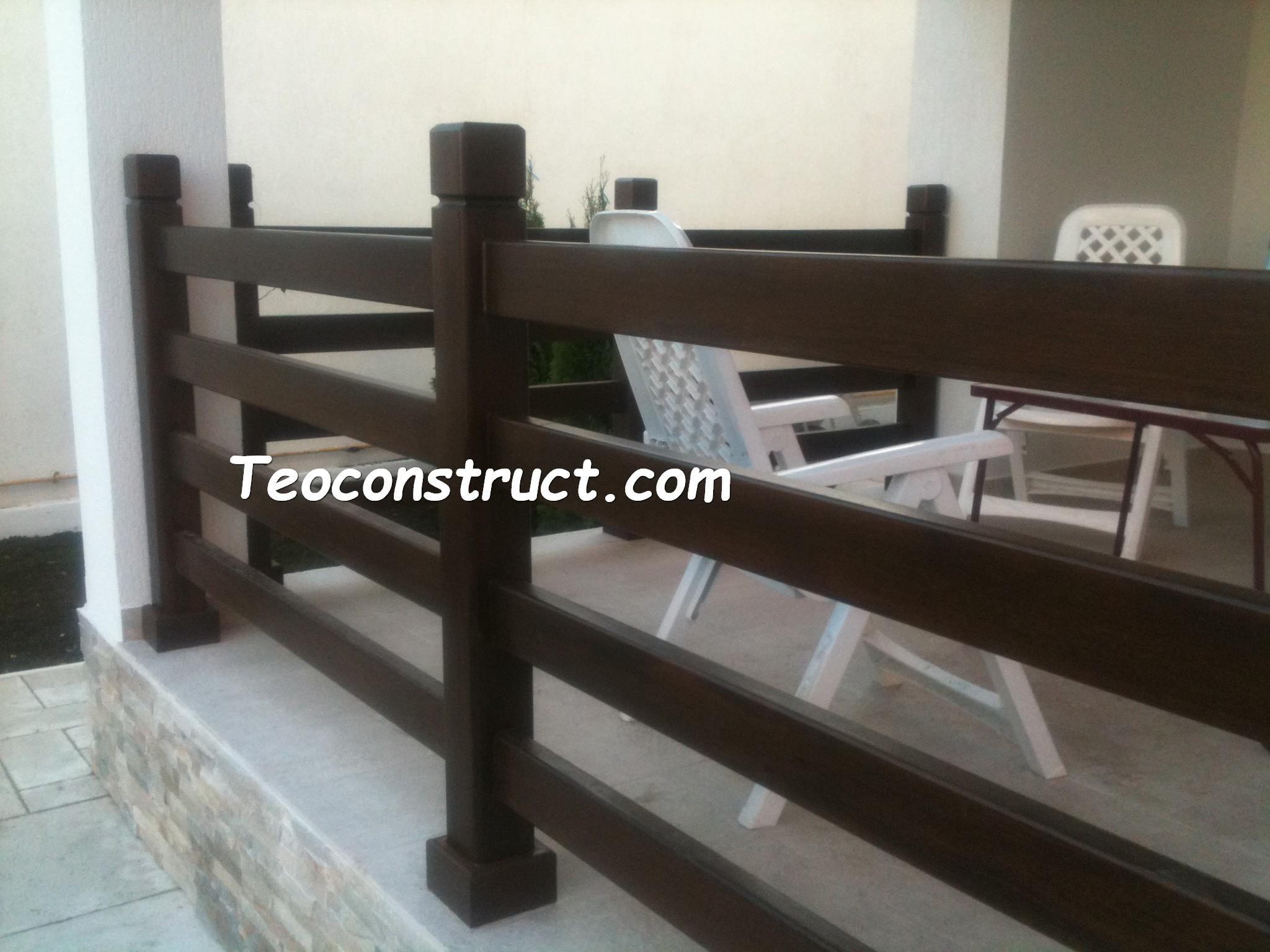 Balustrade din lemn pentru exterior  04