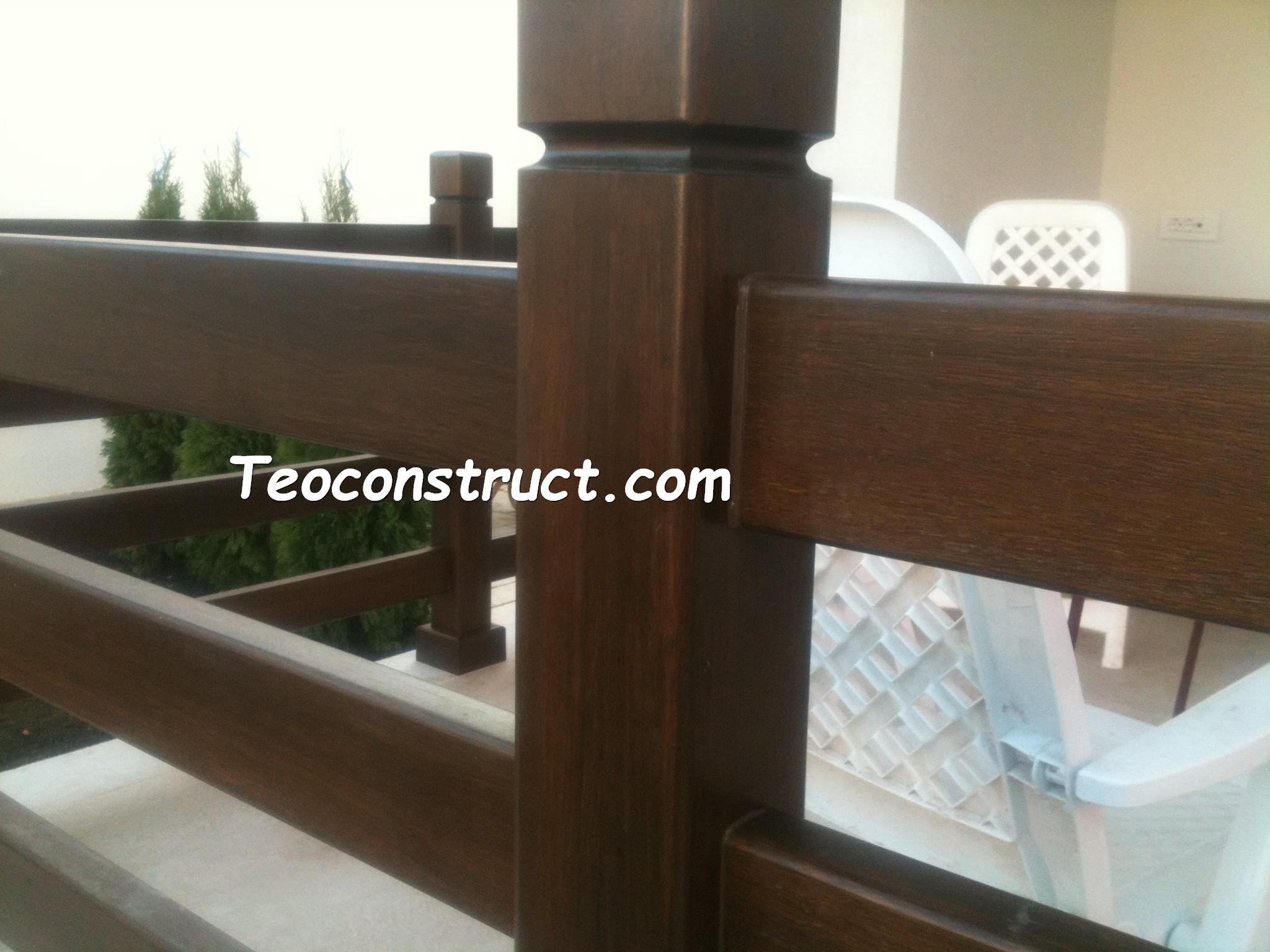 Balustrade din lemn pentru exterior  05