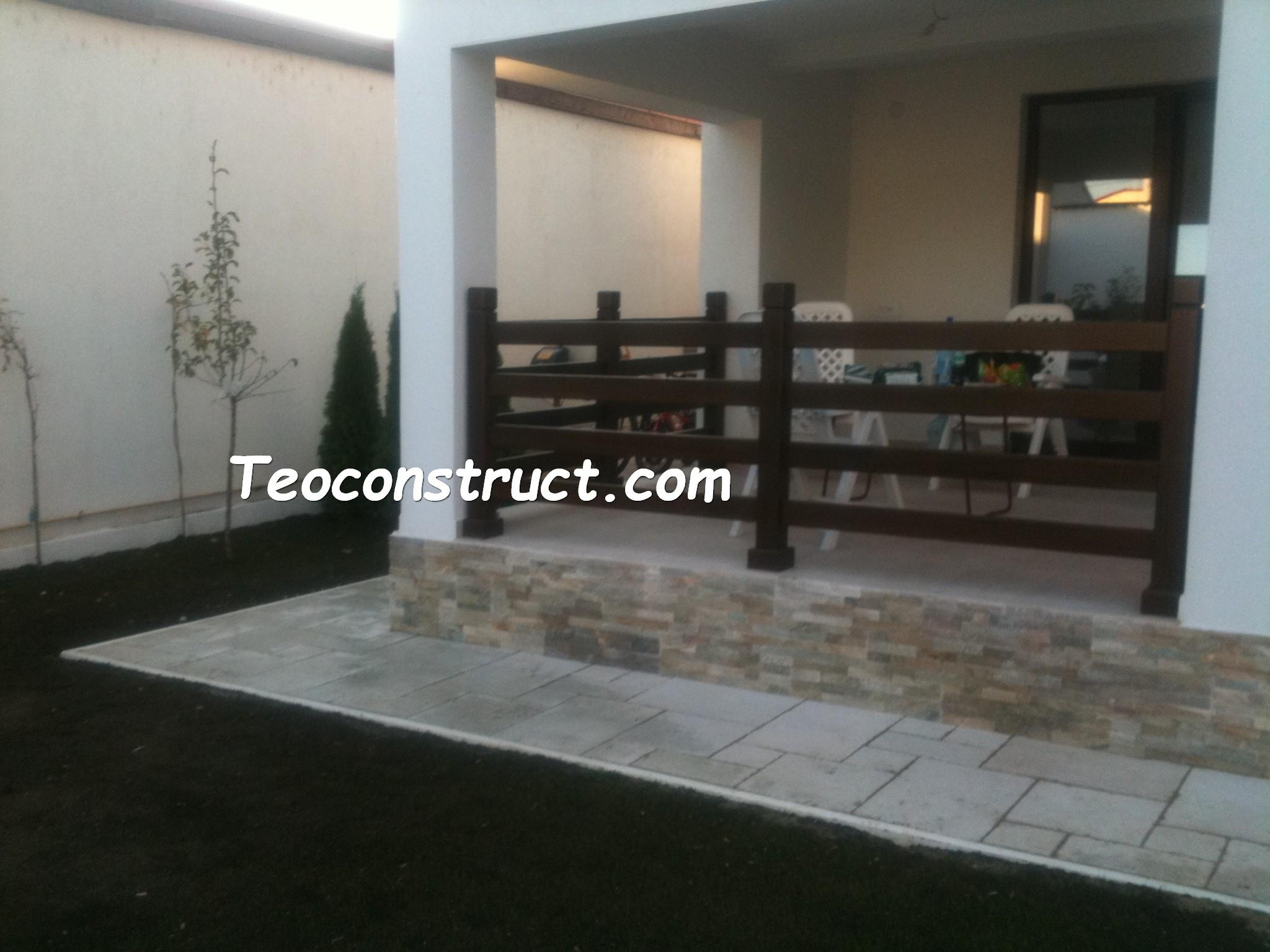 Balustrade din lemn pentru exterior  11