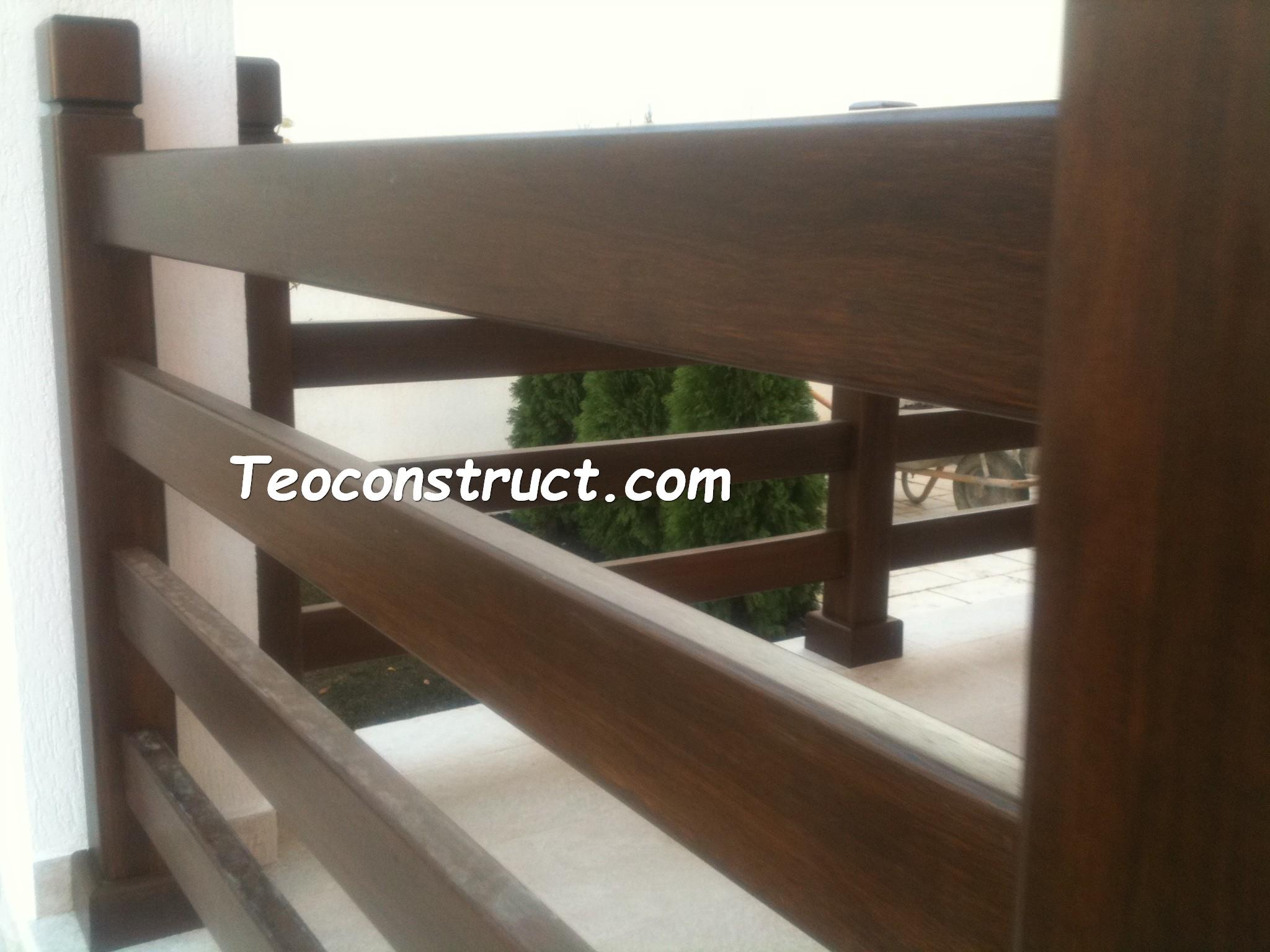 Balustrade din lemn pentru exterior  13