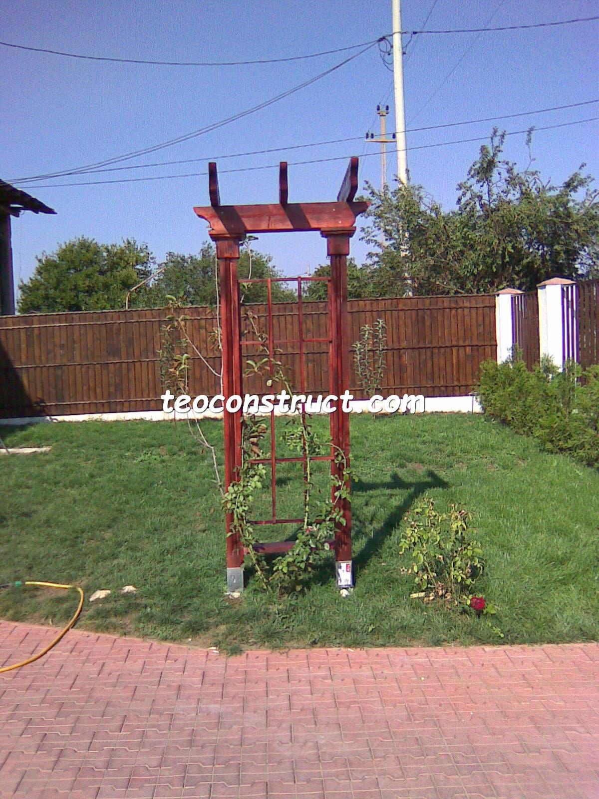 pergola din lemn pentru trandafiri  1