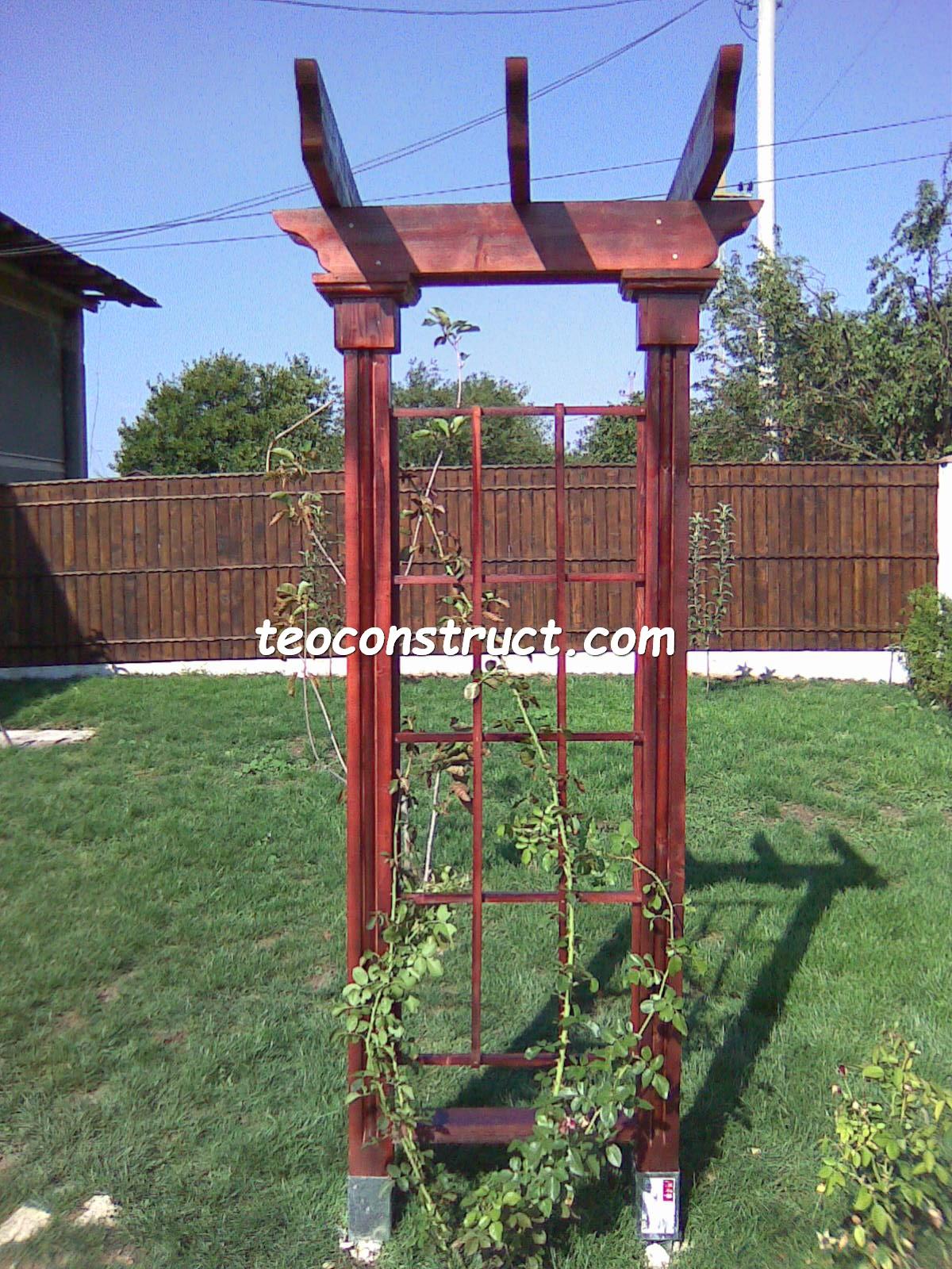 pergola din lemn pentru trandafiri  3