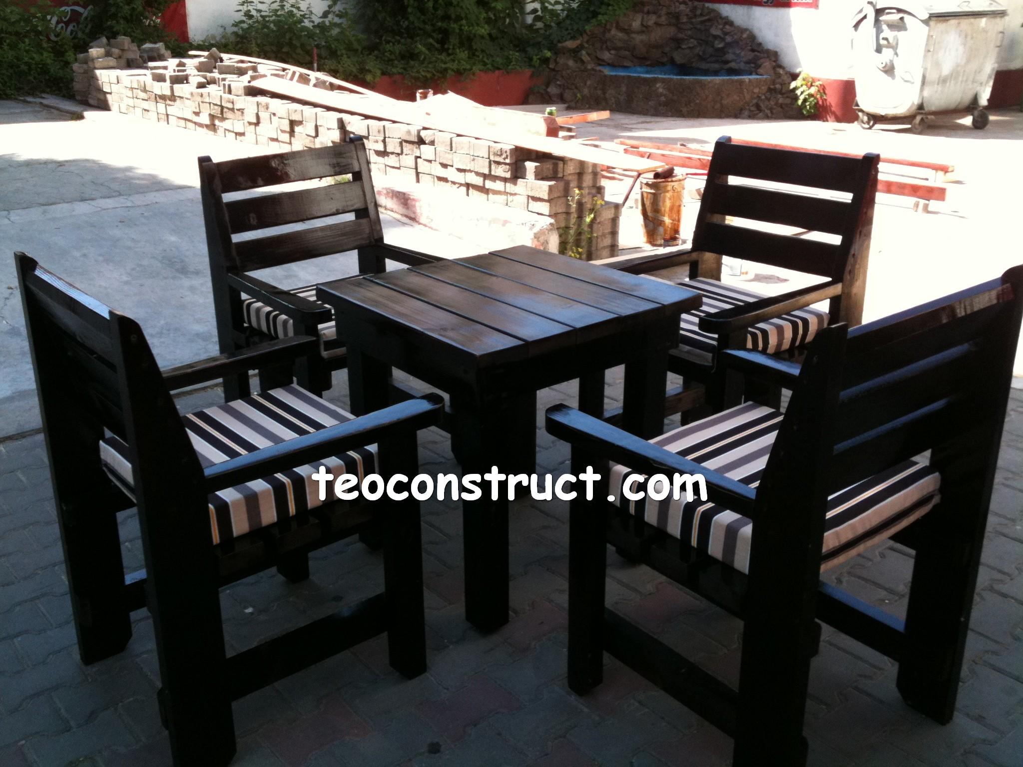 scaune din lemn pentru terasa 01