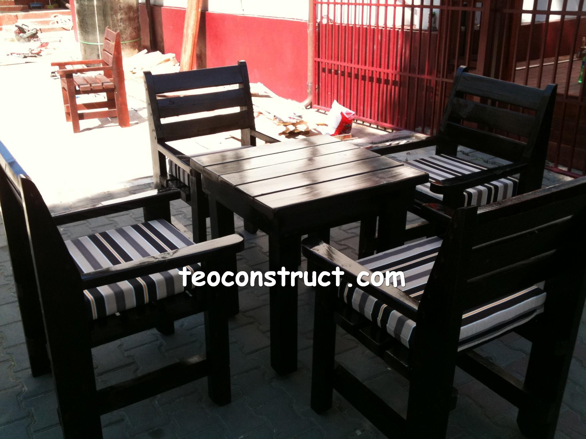 scaune din lemn pentru terasa 02