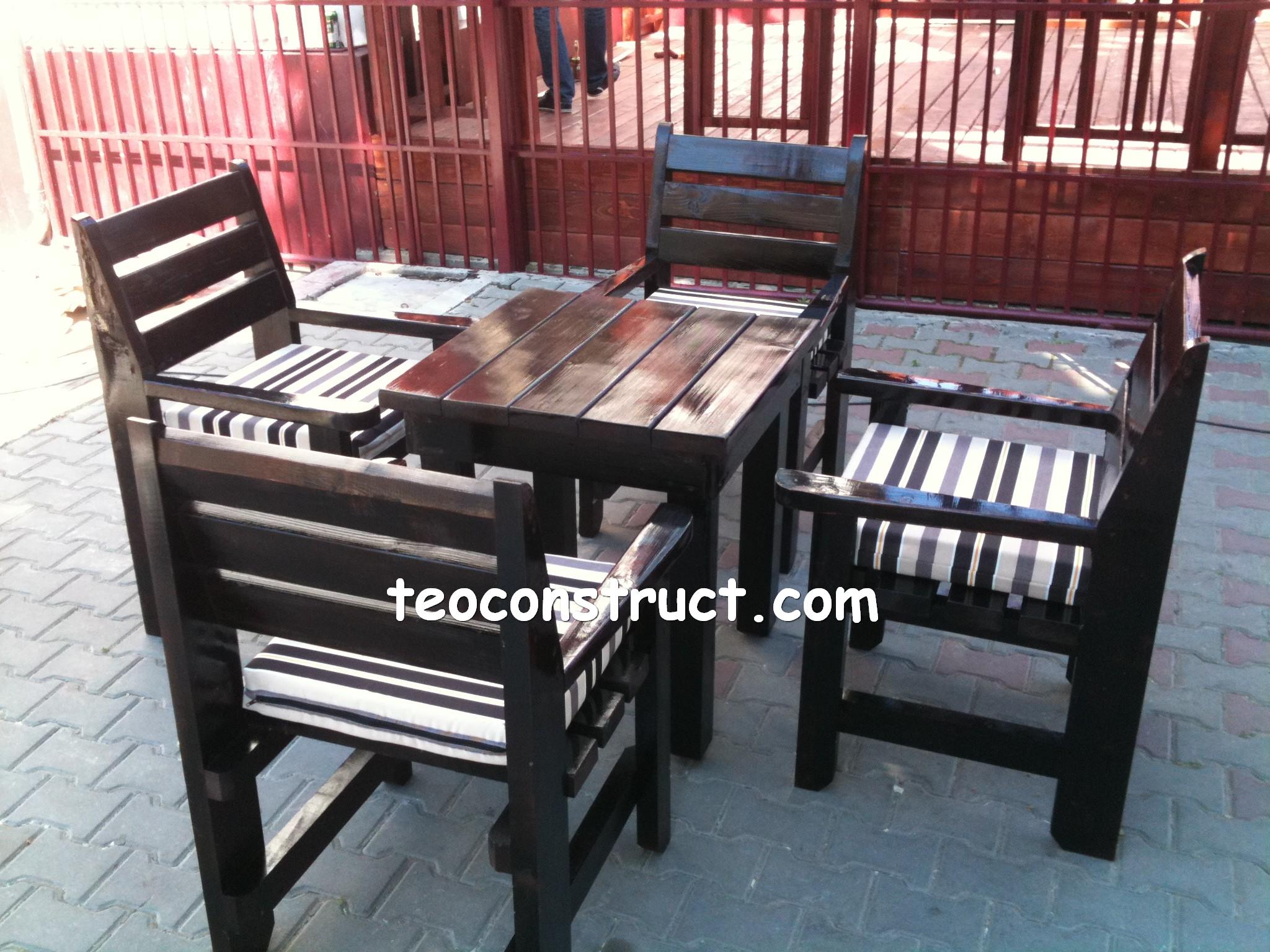 scaune din lemn pentru terasa 03