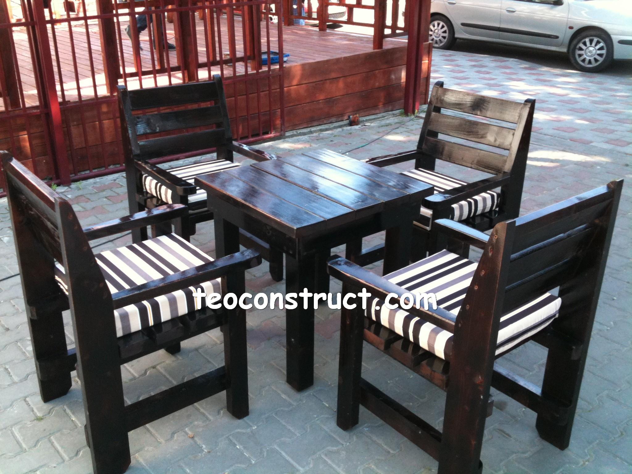 scaune din lemn pentru terasa 05