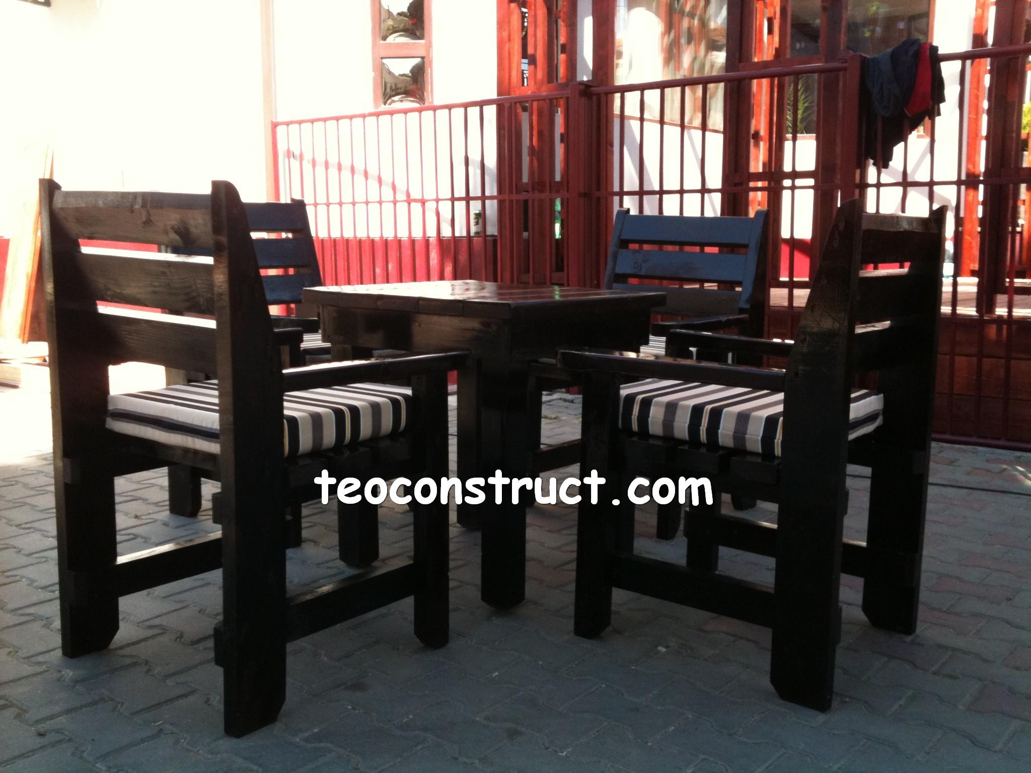 scaune din lemn pentru terasa 06