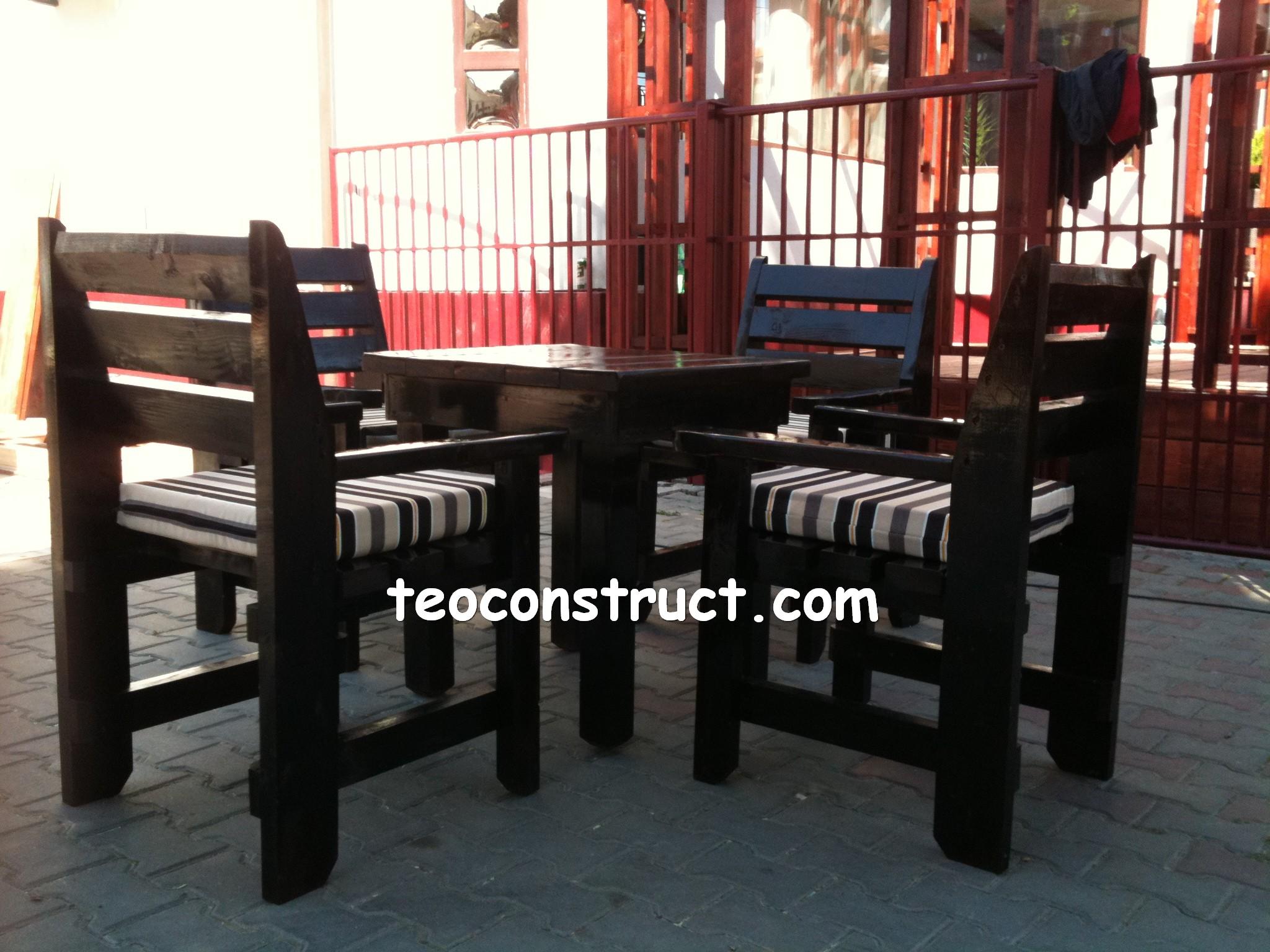 scaune din lemn pentru terasa 07