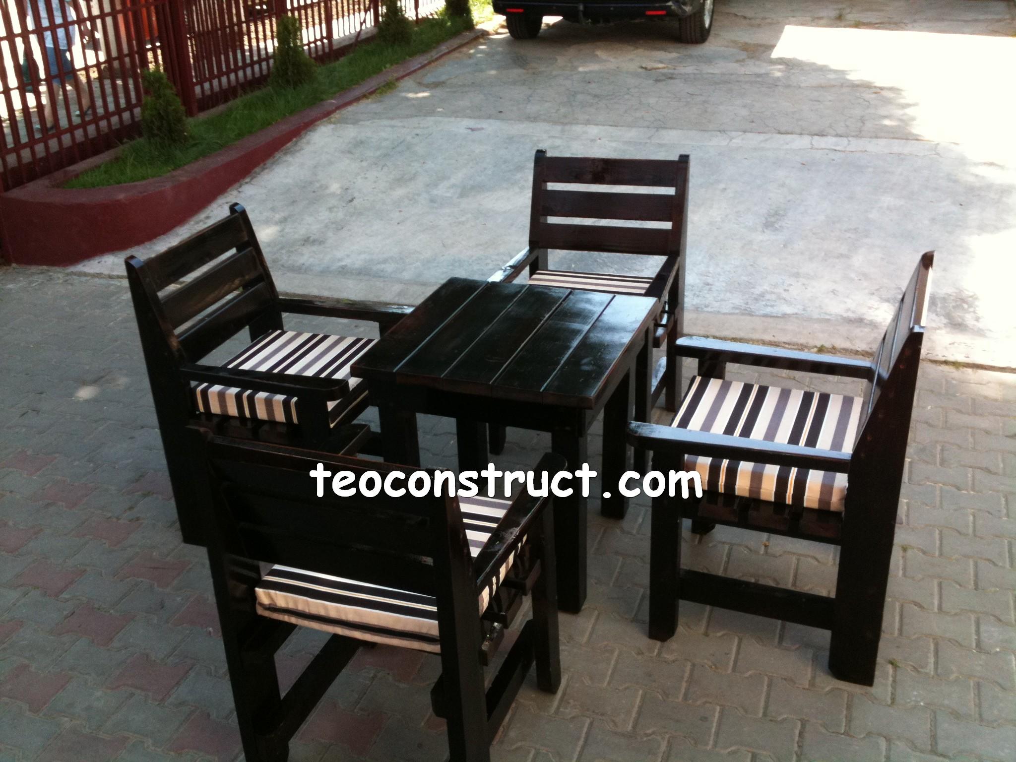 scaune din lemn pentru terasa 09