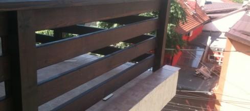 Balustrade din lemn rustice pentru terase