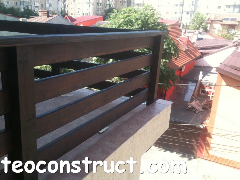 Balustrade din lemn rustice pentru terase foisoare din for Modele de balcon din lemn