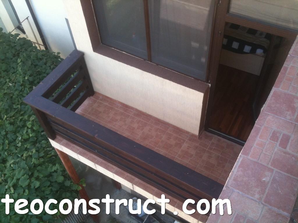 balustrade din lemn rustice pentru terasa 03