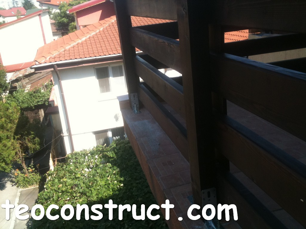 balustrade din lemn rustice pentru terasa 04