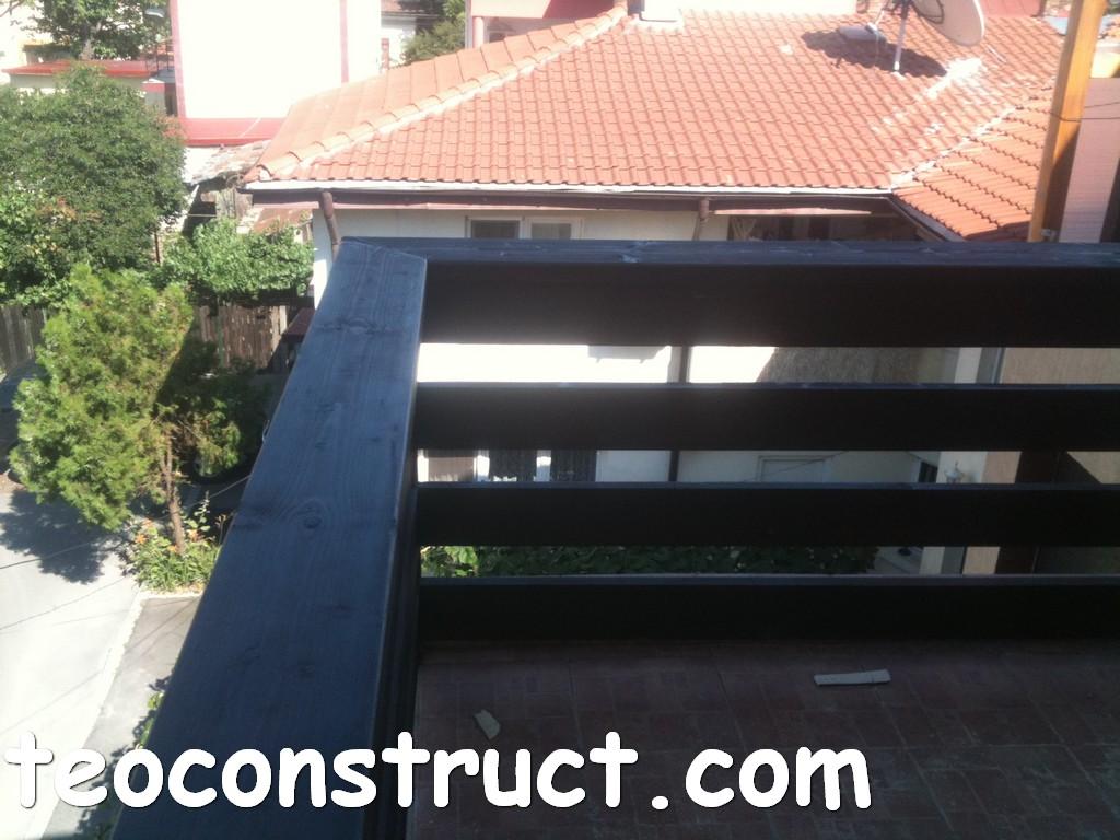 balustrade din lemn rustice pentru terasa 05