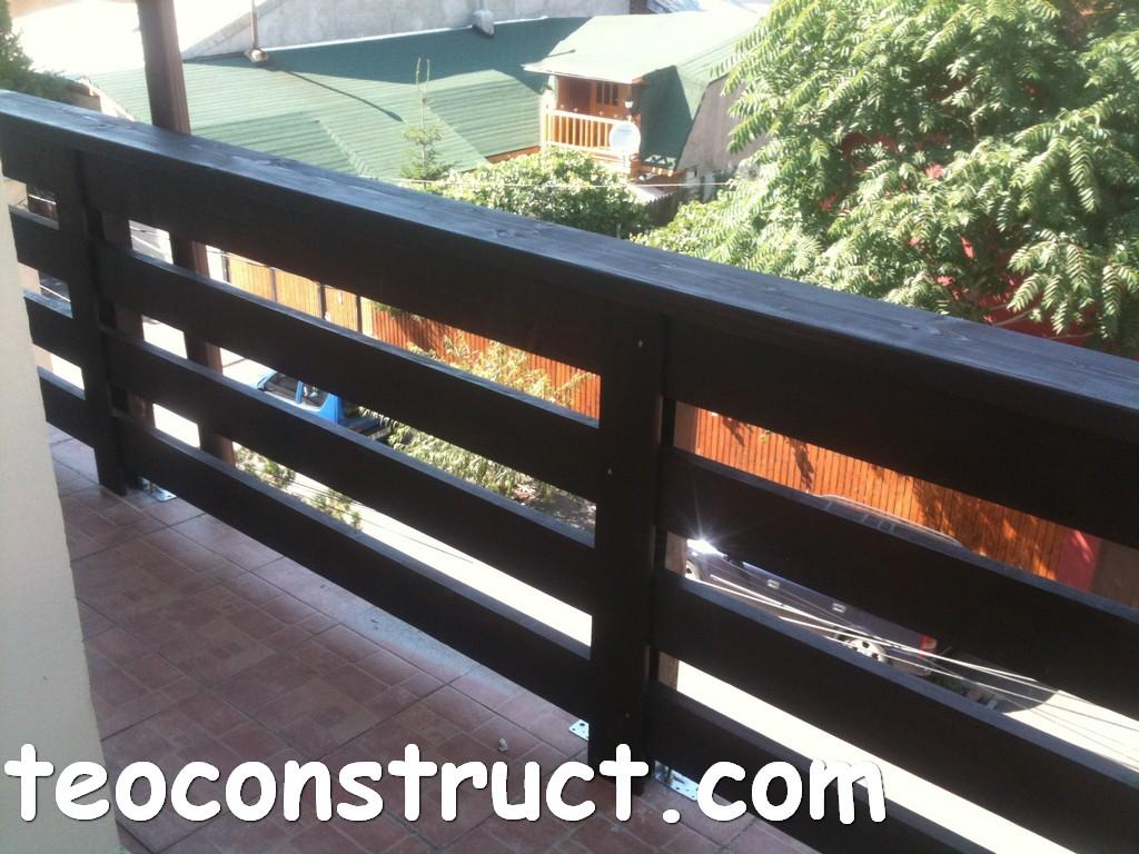 balustrade din lemn rustice pentru terasa 06