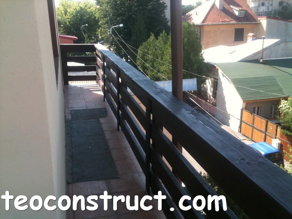 balustrade din lemn rustice pentru terasa 07