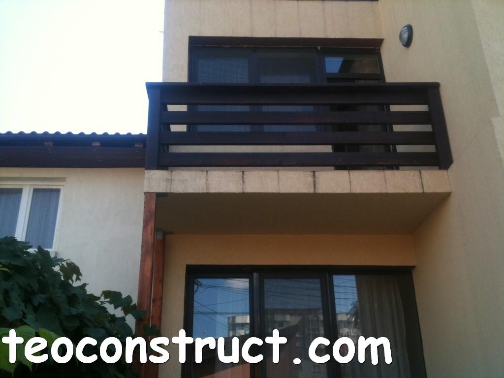 balustrade din lemn rustice pentru terasa 08