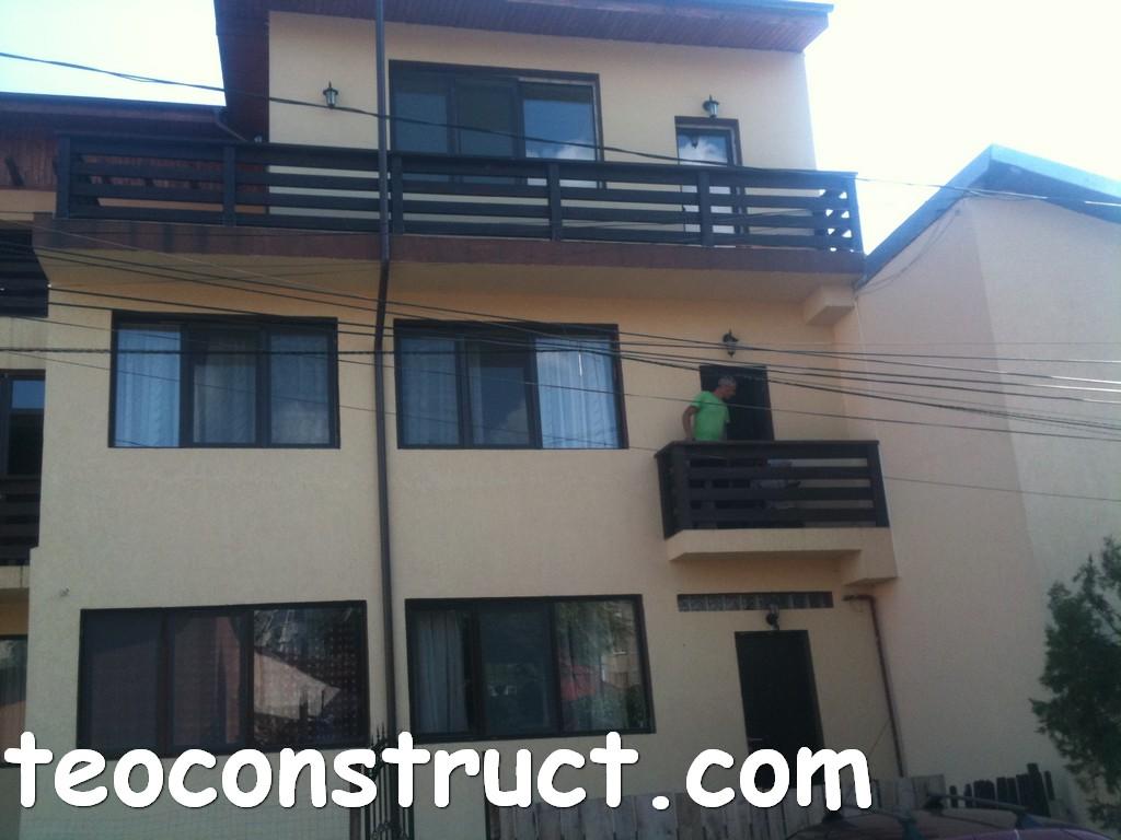 balustrade din lemn rustice pentru terasa 09