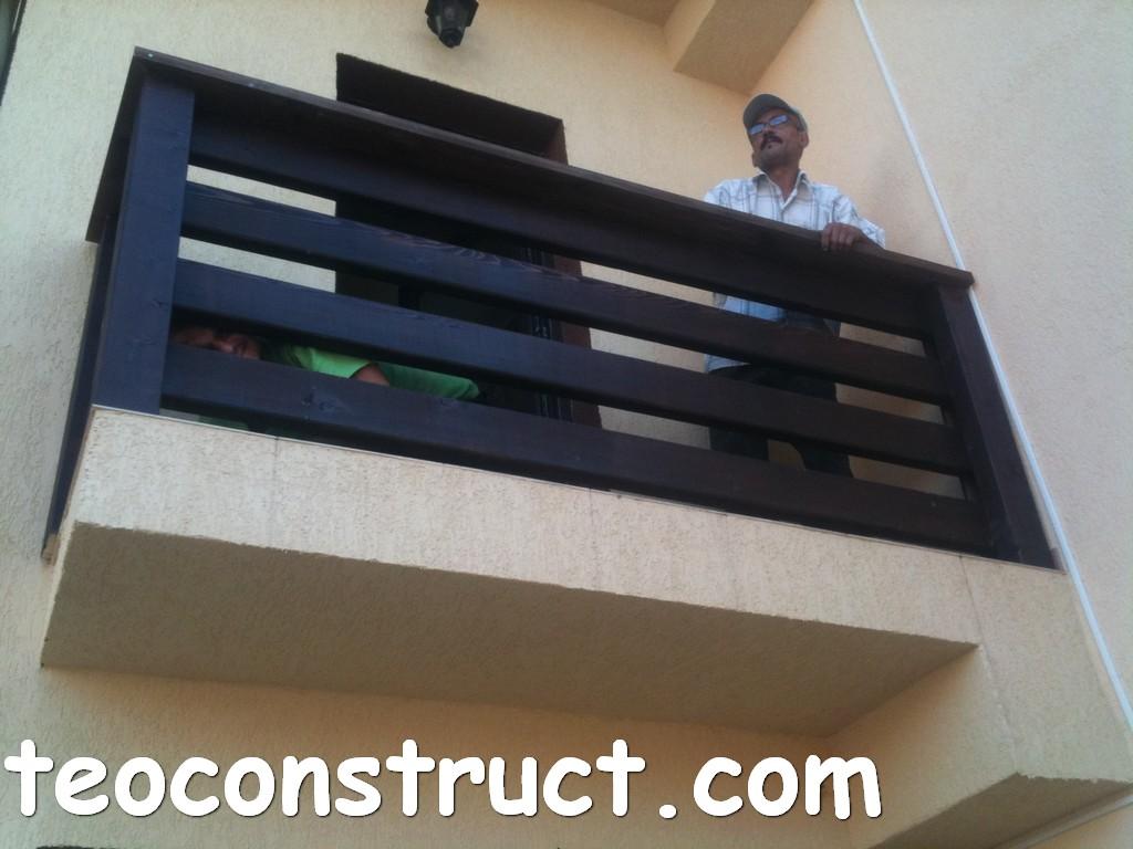 balustrade din lemn rustice pentru terasa 10