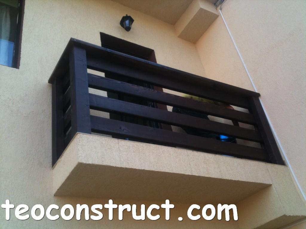 balustrade din lemn rustice pentru terasa 11