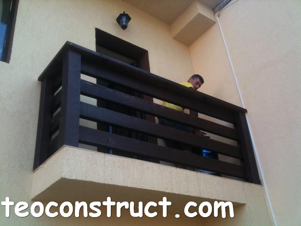 balustrade din lemn rustice pentru terasa 12