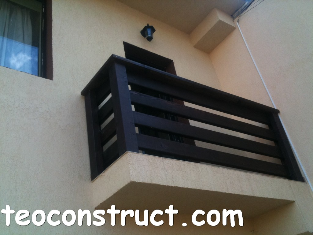 balustrade din lemn rustice pentru terasa 13