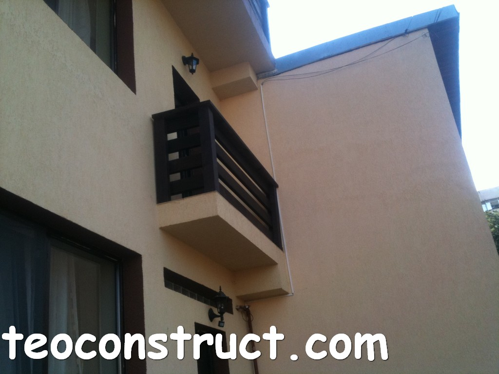 balustrade din lemn rustice pentru terasa 14