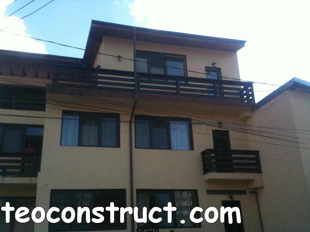 balustrade din lemn rustice pentru terasa 15