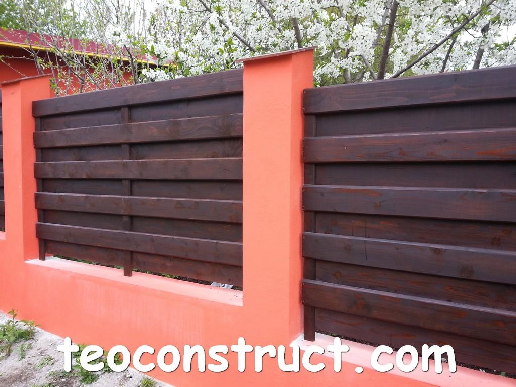 gard din lemn model matrice 01