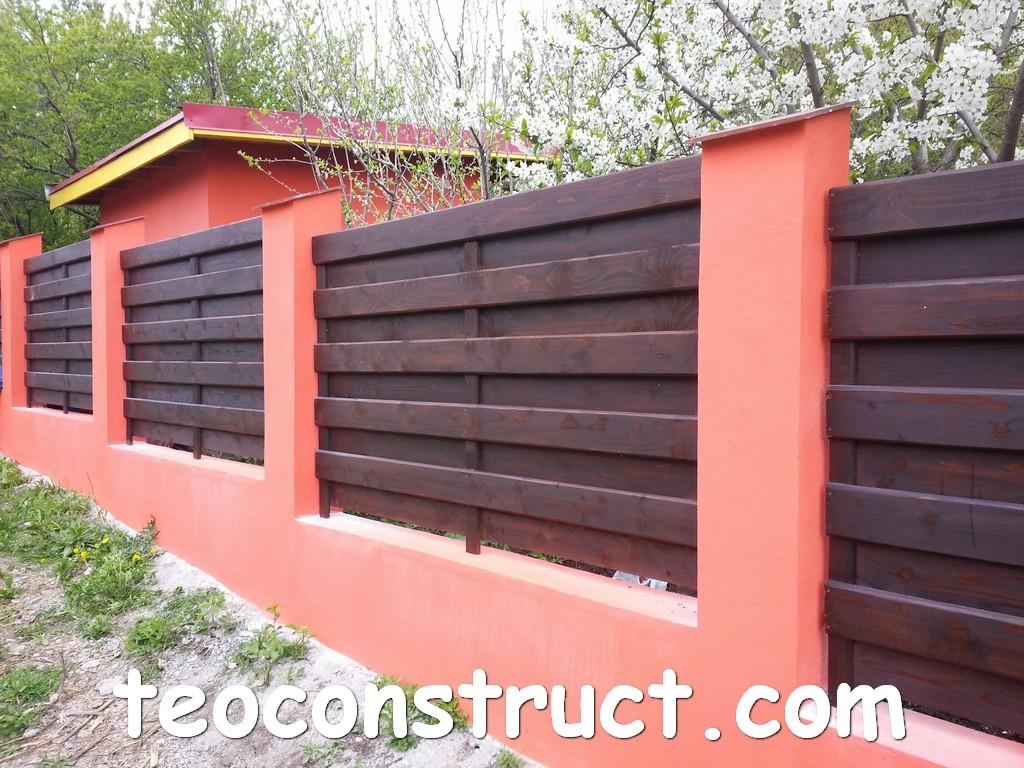 gard din lemn model matrice foisoare din lemn garduri