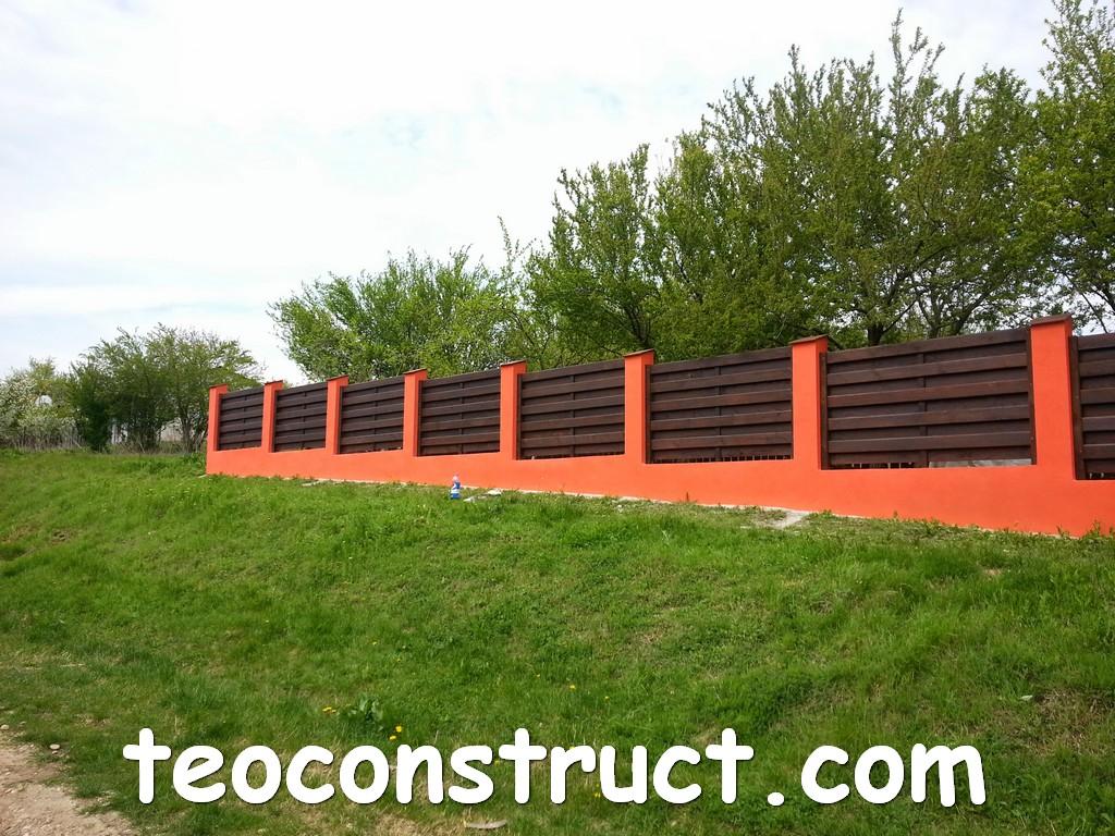 gard din lemn model matrice 10