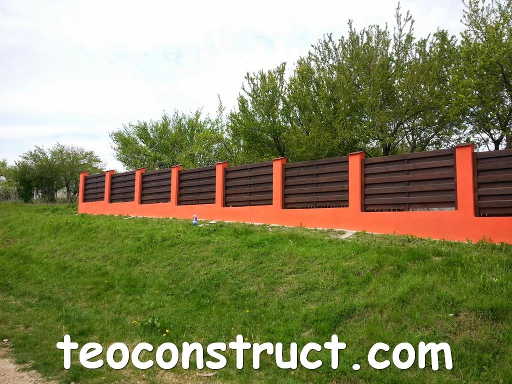 gard din lemn model matrice 13