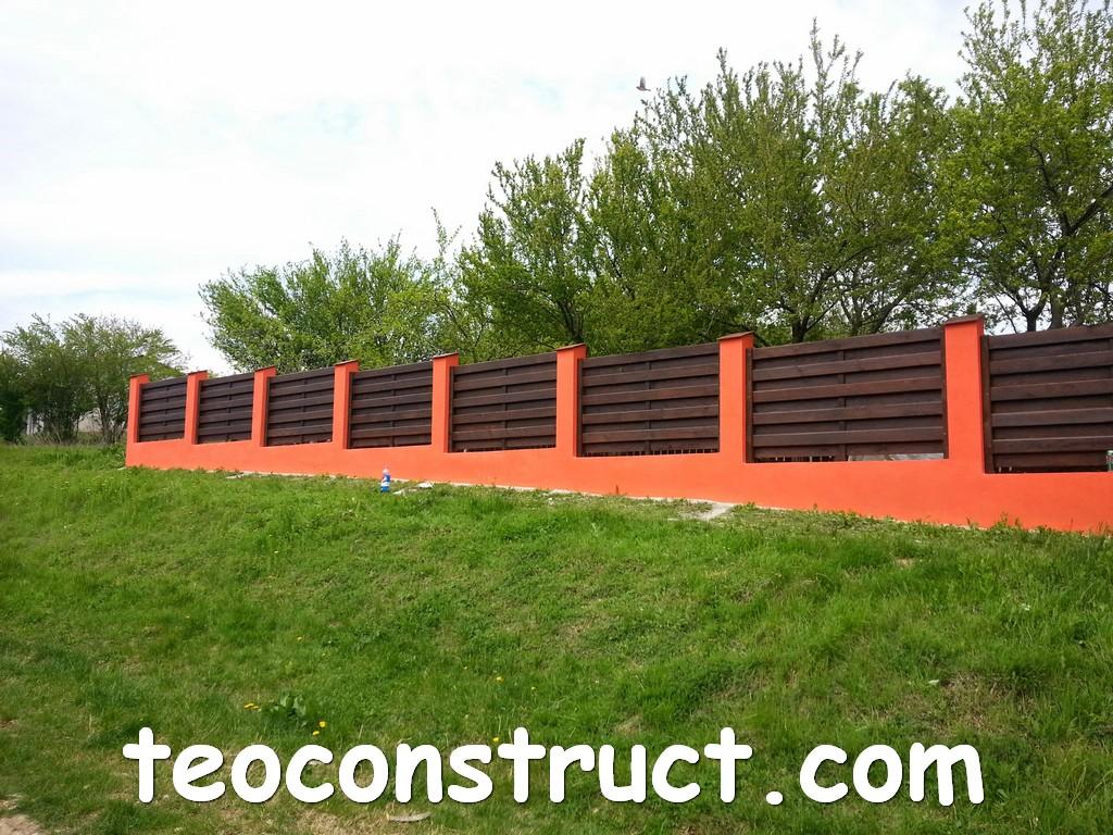 gard din lemn model matrice 15