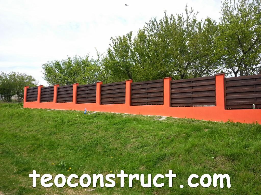 gard din lemn model matrice 16
