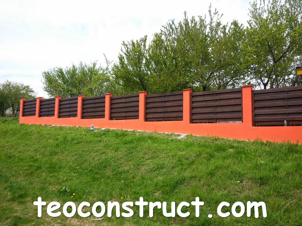 gard din lemn model matrice 17