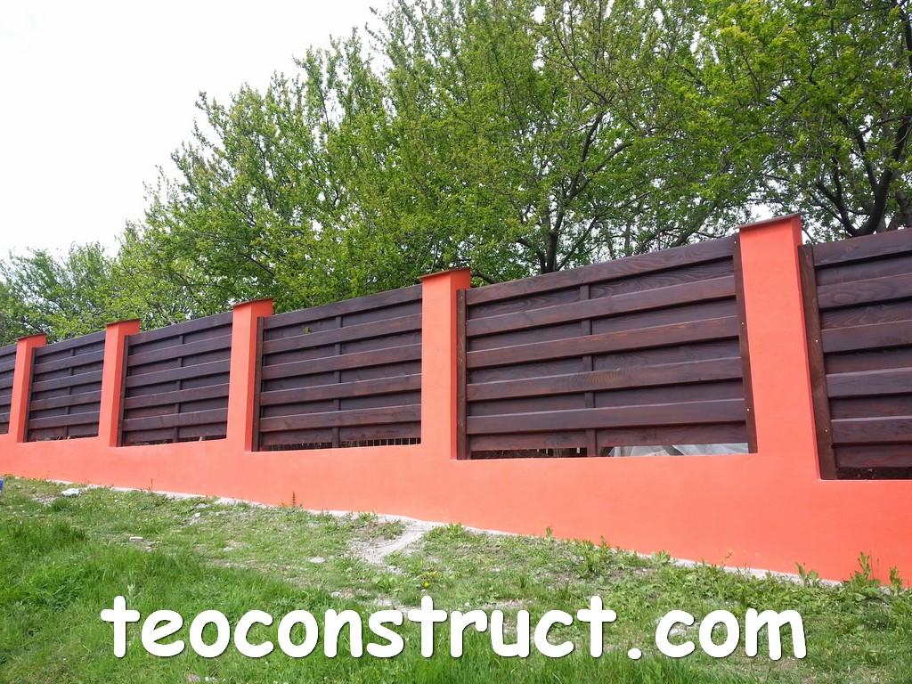 gard din lemn model matrice 20