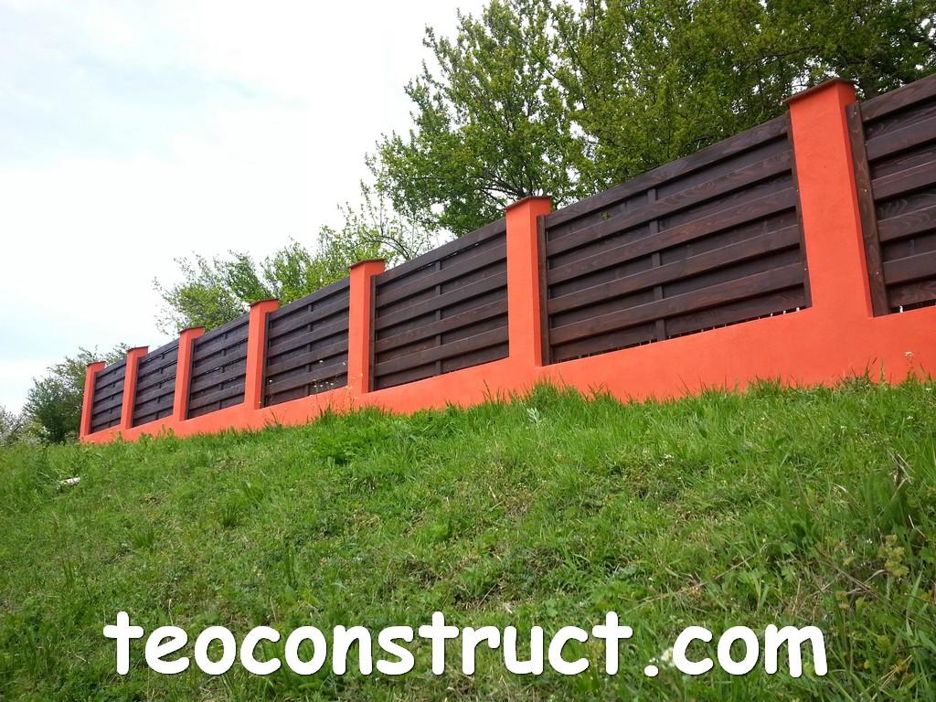 gard din lemn model matrice 24