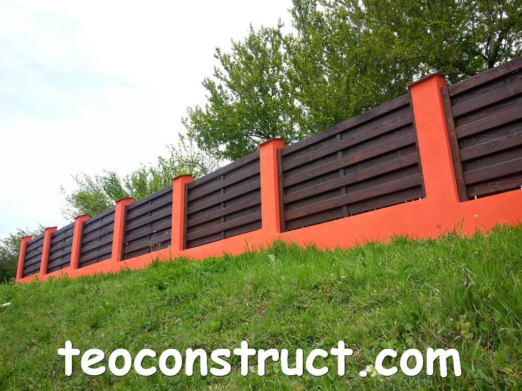 gard din lemn model matrice 25
