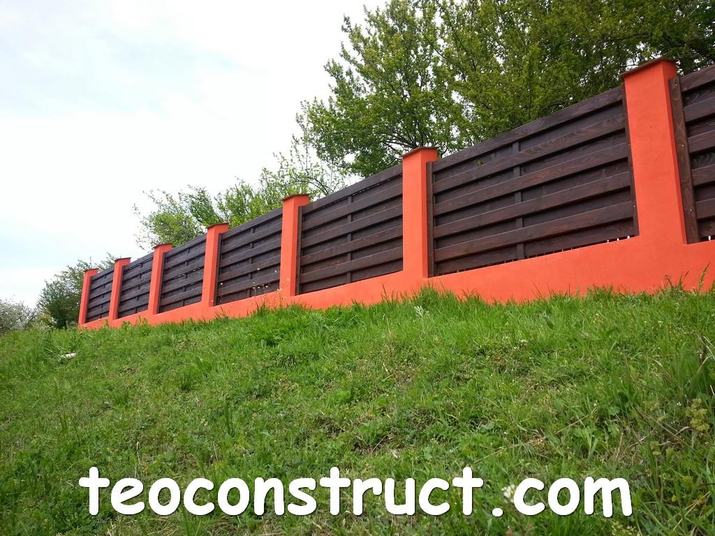 gard din lemn model matrice 26