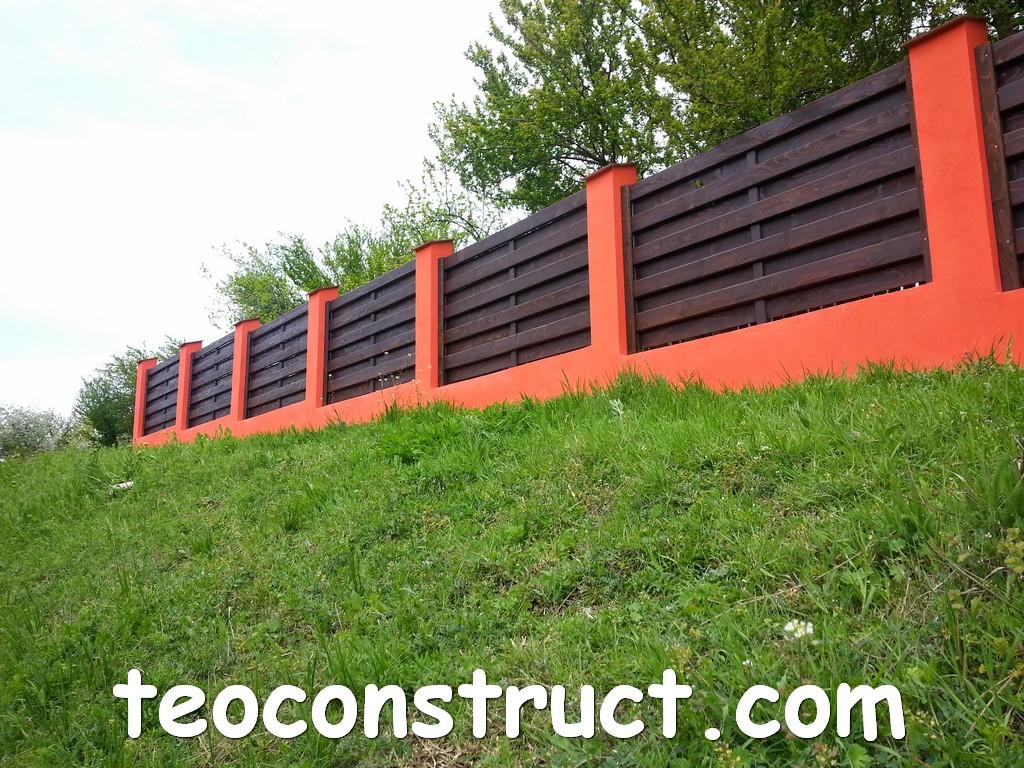 gard din lemn model matrice 28