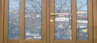 Usa de intrare din lemn de stejar