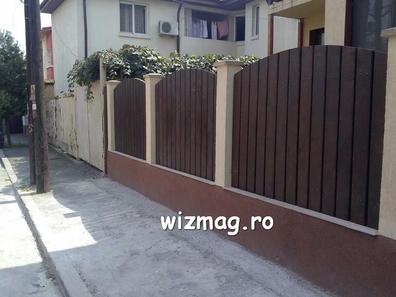 garduri din lemn cu lamele verticale 10
