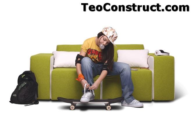 Canapea pentru adolescenti Lego01
