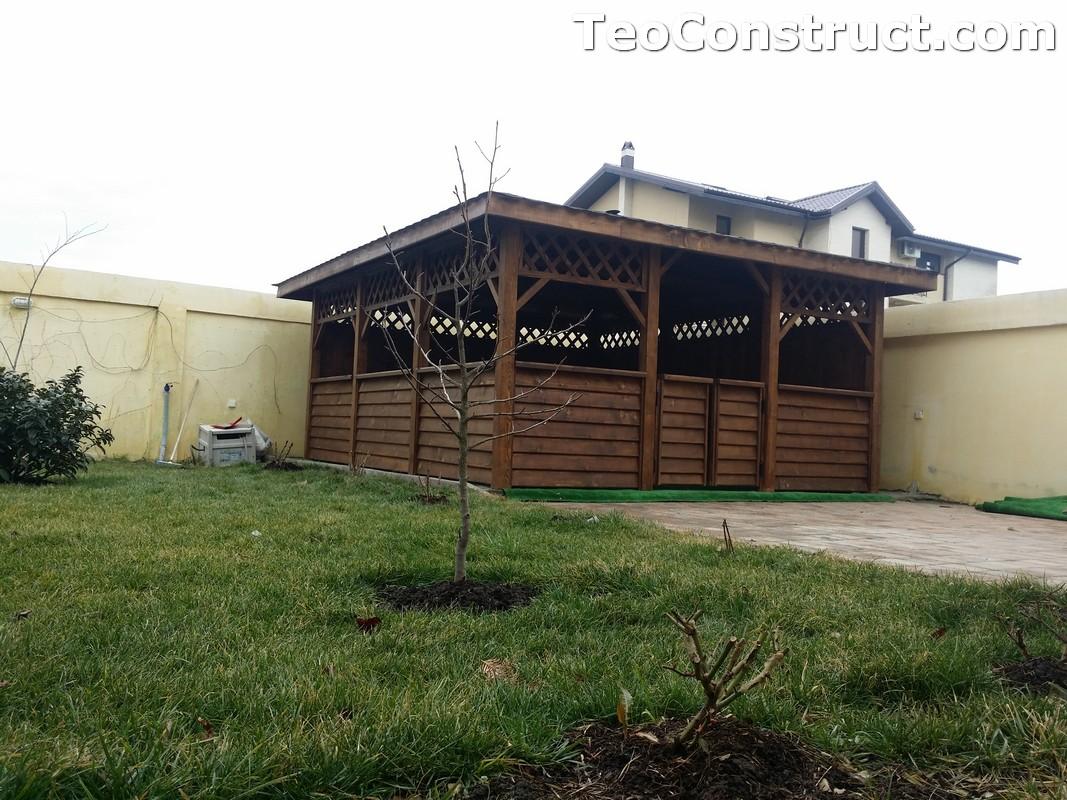 Foisoare din lemn hexagonale Bucuresti1