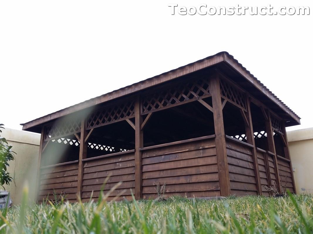 Foisoare din lemn hexagonale Bucuresti10