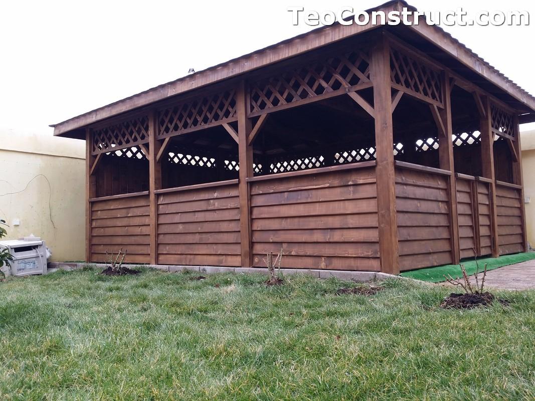 Foisoare din lemn hexagonale Bucuresti12