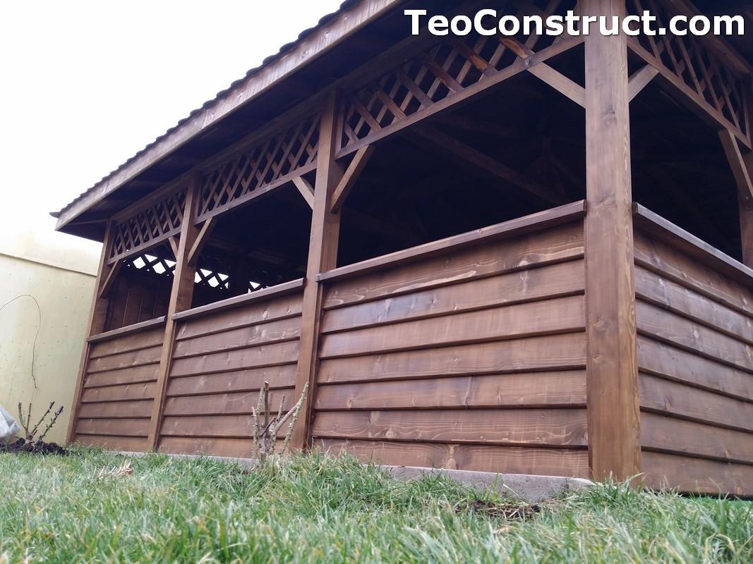 Foisoare din lemn hexagonale Bucuresti14
