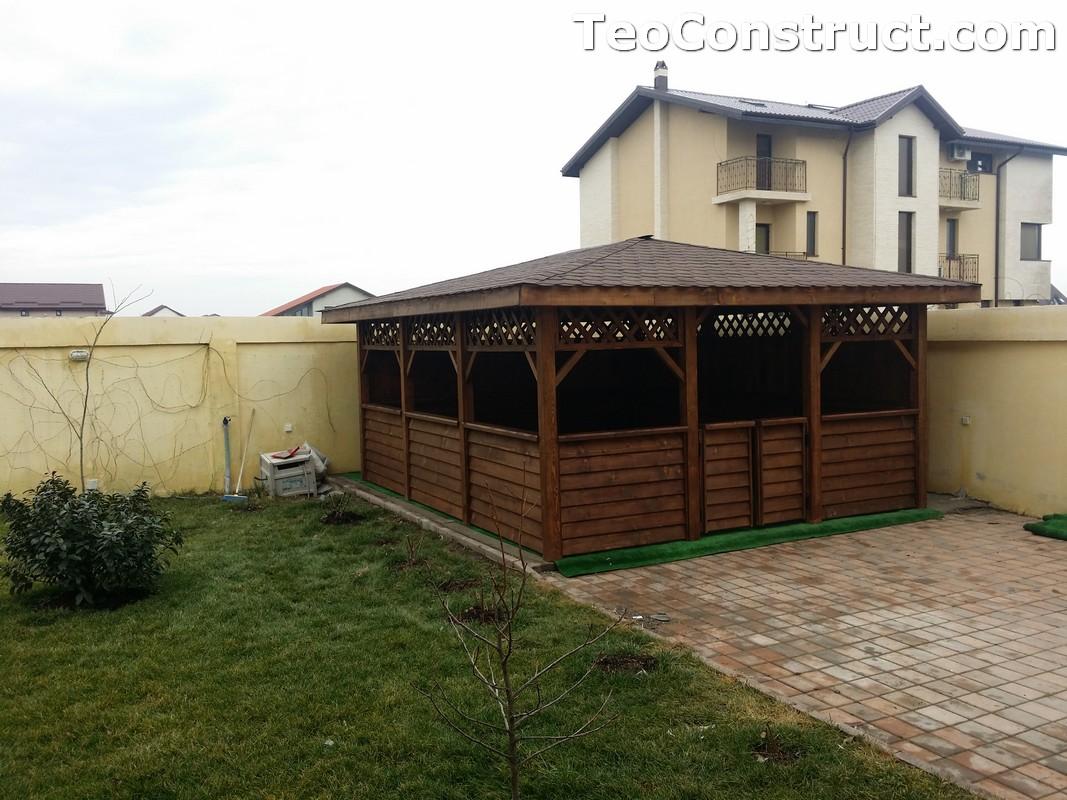 Foisoare din lemn hexagonale Bucuresti2