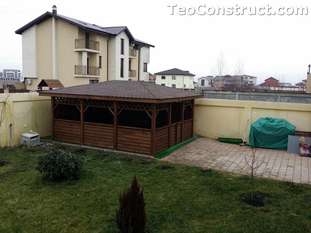 Foisoare din lemn hexagonale Bucuresti21